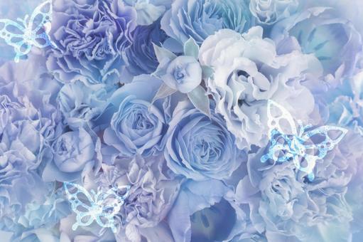 Floral background blue