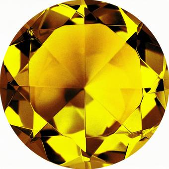 Imperial Topaz color crystal (with clipping pass)