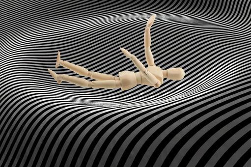 밑바닥까지 떨어질 사람 (중앙 배치 그래픽 배경)
