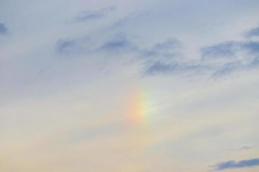 Rainbow in the blue sky Sun dog iridescence