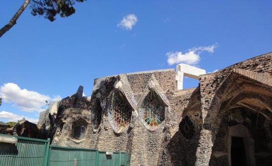 Exterior of Colonia Guell Church