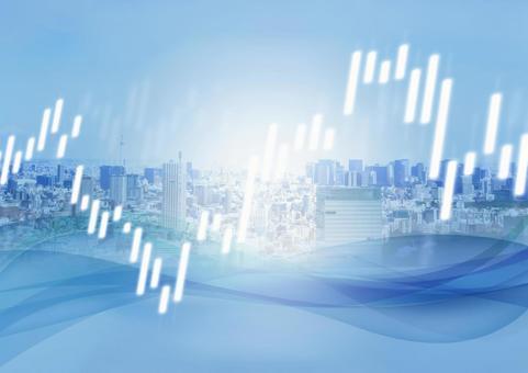 城市和股票抽象波