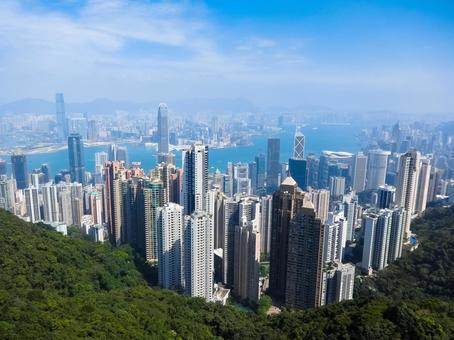 Hongkong Victoria Peak View from Hong Kong Victoria Peak Observation Deck