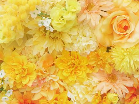 背景(黃色花朵,蓬鬆)