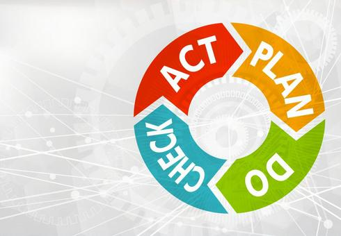 PDCA Cycle - White