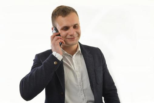 Foreign male with a smartphone 1