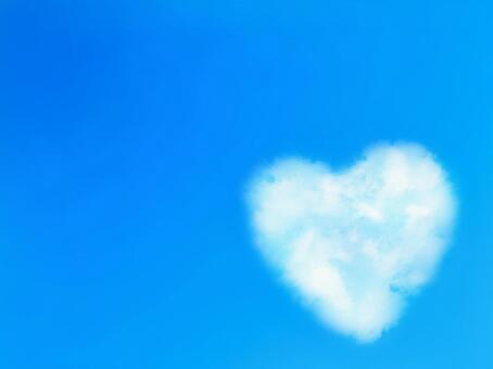 Heart shaped cloud