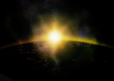 우주와 새벽 이미지