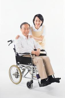 Men with wheelchairs and caregivers 11