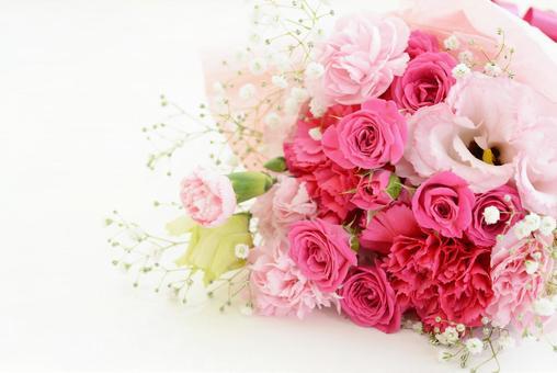 美麗的粉紅色花束