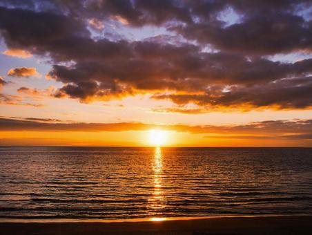 Sea of sunset