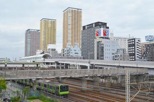 Nippori Station (Yamanote Line / Keisei Line) and townscape