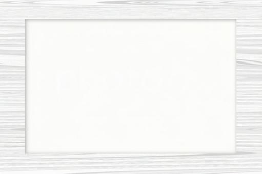 Frame-friendly Universal Background Wood Frame White