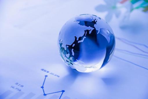 Globe and graph