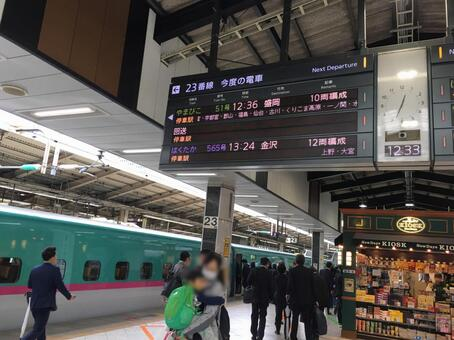 2017 년 10 월 도쿄역 신칸센 홈 23 호선