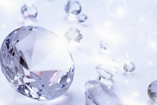 Glitter diamond cut