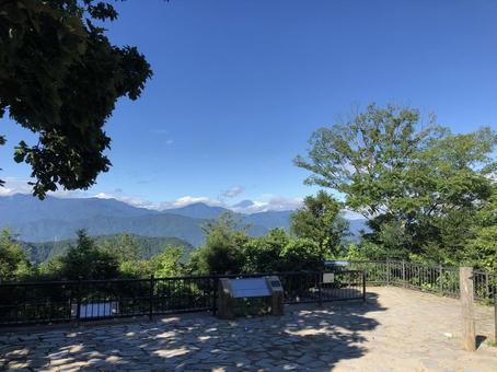 다카오 산 정상의 풍경