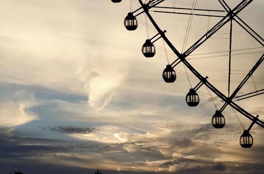 Sunset and Ferris wheel
