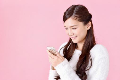 智能手機和女子10