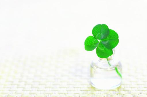 Four-leaf clover image material of happiness