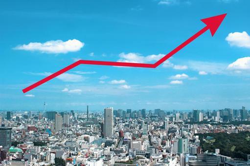 Urban landscape · rising arrow