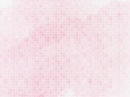 Soft pink tile style watercolor background