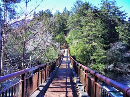 Bridge over Akigawa Valley