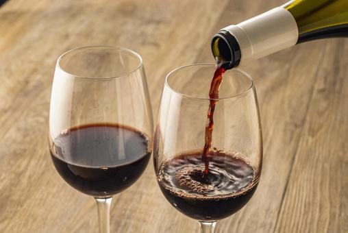 Red wine beaujolais nouveau