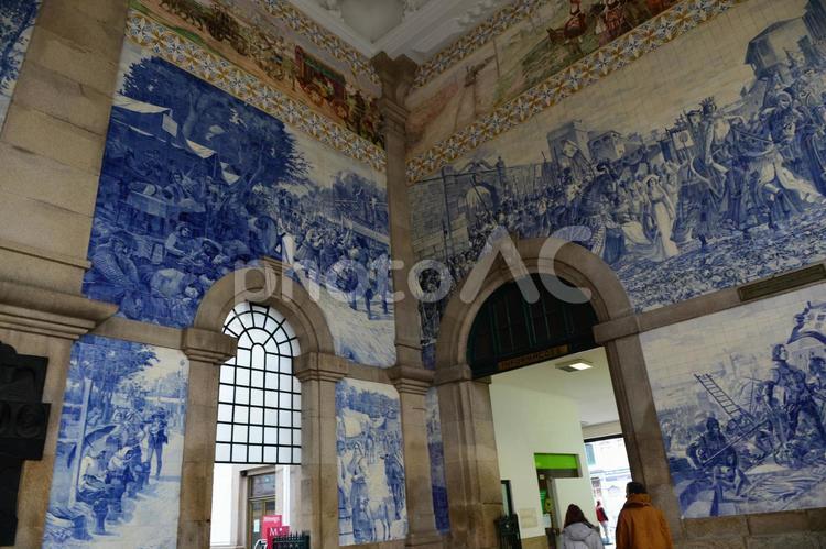 ポルトの駅にての写真