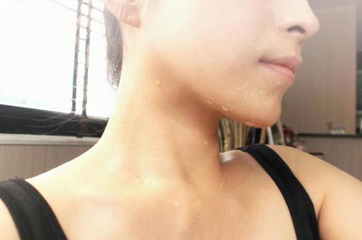 Sweaty woman