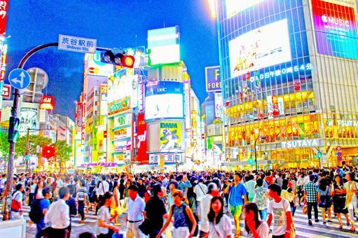 Brilliant Shibuya scramble intersection