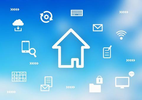 空とデジタルアイコン オンライン