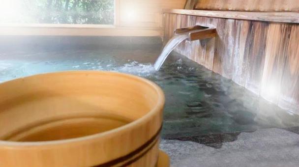 Semi-open-air bath and tub