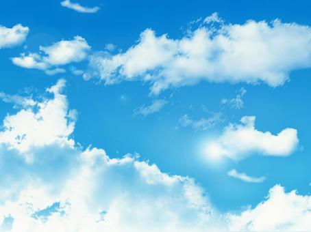 Blue sky 014-PSD