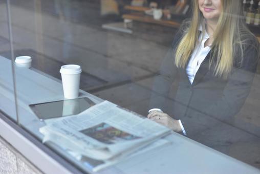 Coffee shop woman 3