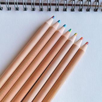Color pencil and notebook Rainbow color 7 colors Rainbow pencil