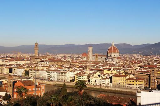 해외 여행 이탈리아 피렌체 미켈란젤로 광장에서 촬영 한 전망 004