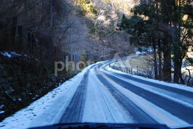 雪道の写真