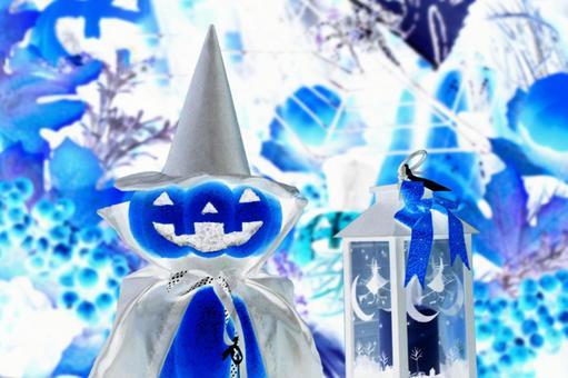 Halloween pumpkin 14 blue
