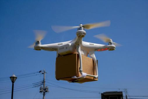 Drone carrying luggage