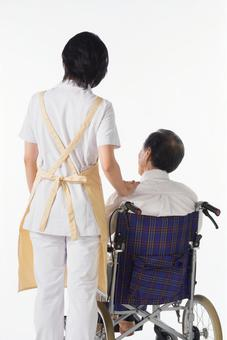 Nurse and wheelchair male 22