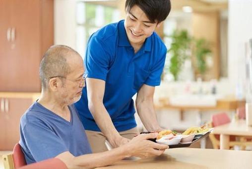 Caregiver serving the elderly