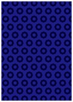 Scandinavian design floret blue