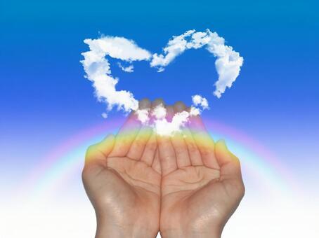 Receive heart clouds