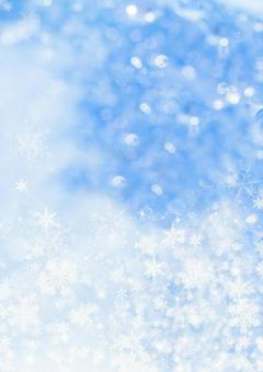Snow crystal and glitter background _ vertical