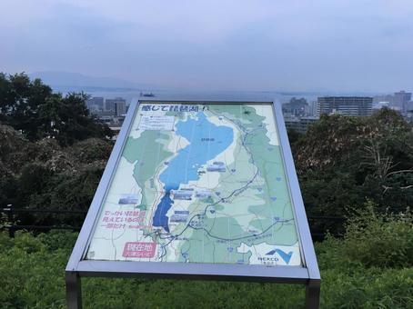 大津サービスエリアから見た琵琶湖
