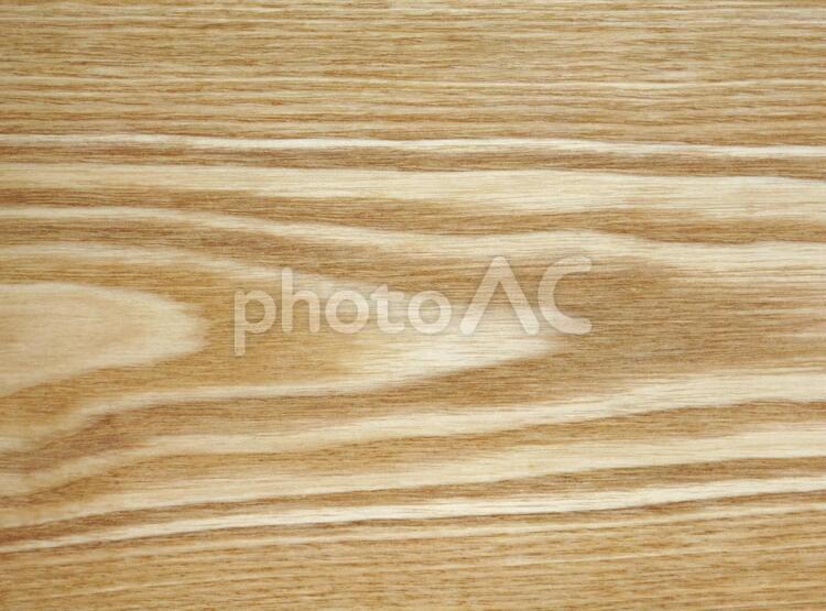 木目のテクスチャー(樹種:タモ)の写真