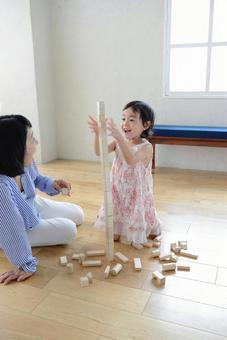 母亲和儿童积木4