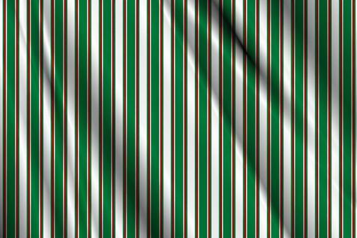 綠色,白色和紅色的條紋的織物紋理