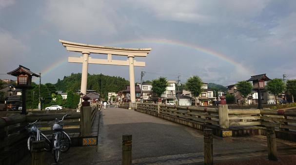 Torii and rainbow 1